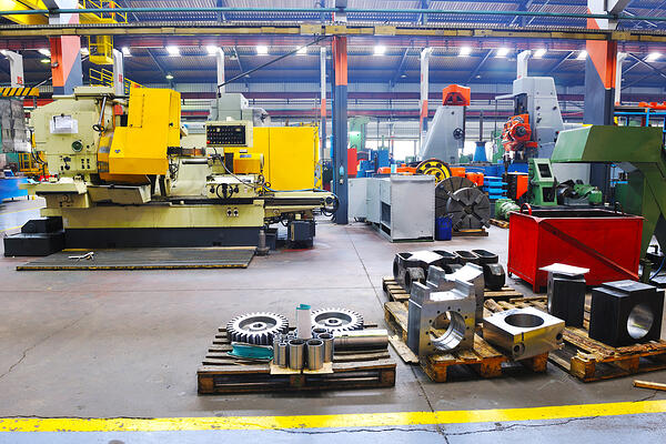 industry factory iron works steel and machine parts modern indoor hall for assembly-1