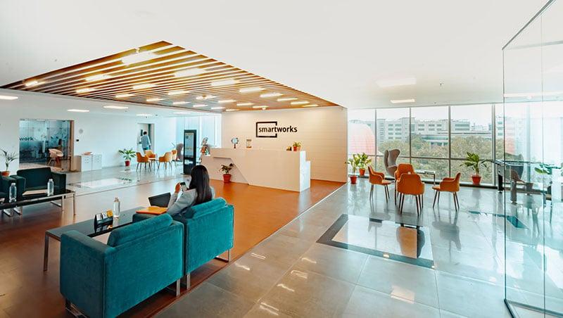 Eingangsbereich eines Unternehmens