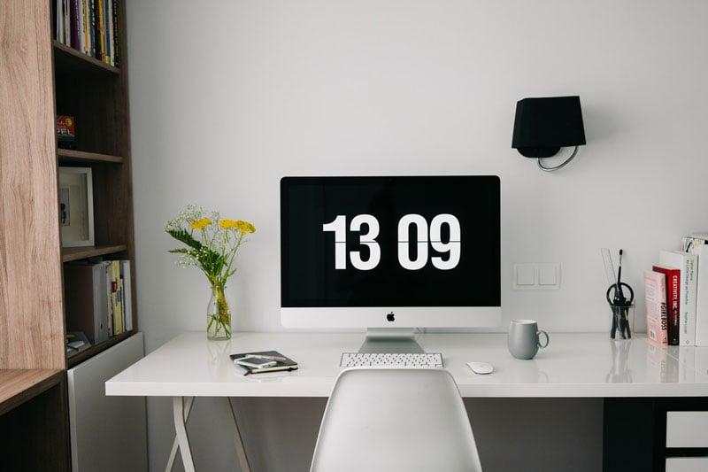 Die Zeiterfassungspflicht kann auch am Desktop erfolgen.