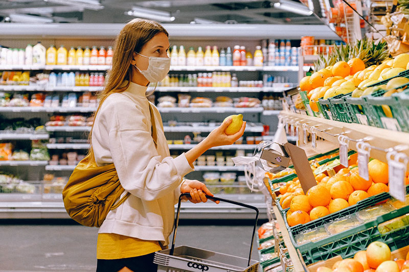 Zutrittssteuerung im Supermarkt für hygienische Einkäufe