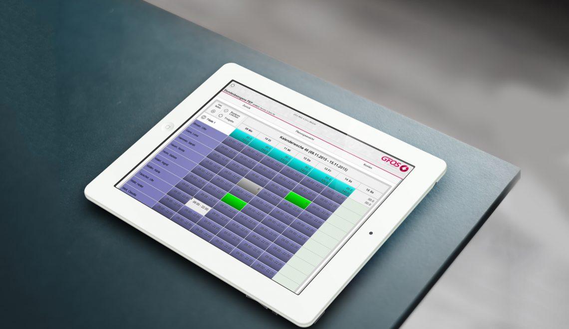 Tablet mit GFOS Software